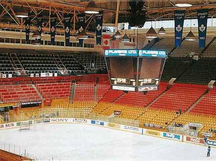 Maple Leaf Gardens...unfortunately the Death Star Scoreboard did not last forever...