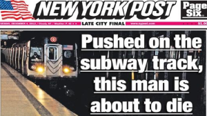 Cropped NY Post Cover , Tuesday 4 December 2012