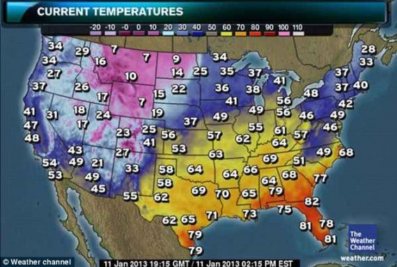 Oooh...those frigid fahrenheit temperatures. Poor Californians....